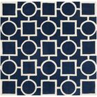 Wilkin Hand-Tufted Wool Blue/Ivory Rug Rug Size: Square 7'