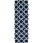 Wilkin Hand-Tufted Wool Blue/Ivory Rug Rug Size: Runner 2'3
