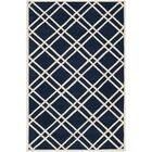 Wilkin Hand-Tufted Wool Dark Blue/Ivory Area Rug Rug Size: Rectangle 6' x 9'