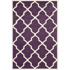 Wilkin Hand-Tufted Purple/Ivory Area Rug Rug Size: Rectangle 4' x 6'