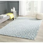 Wilkin Hand-Tufted Wool Blue/Ivory Area Rug Rug Size: Rectangle 8'9