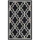Martins Hand-Tufted Wool Black Area Rug Rug Size: Rectangle 9' x 12'