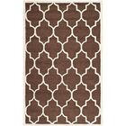 Charlenne Dark Brown Area Rug Rug Size: Rectangle 5' x 8'