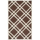 Martins Dark Brown Area Rug Rug Size: Rectangle 4' x 6'
