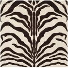 Roloff Hand-Tufted Wool Ivory/Brown Area Rug Rug Size: Square 6'