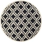 Martins Black Area Rug Rug Size: Rectangle 4' x 6'
