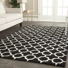 Martins Handmade Wool Black/Ivory Area Rug Rug Size: Rectangle 5' x 8'