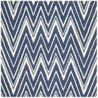 Martins Hand-Tufted Wool Navy/Ivory Area Rug Rug Size: Square 6'