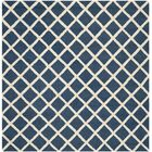 Martins Hand-Tufted Wool Navy Blue/Ivory Area Rug Rug Size: Square 6'