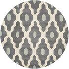 Wilkin Dark Gray/Ivory Moroccan Area Rug Rug Size: Round 5'