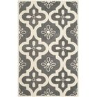 Wilkin Moroccan Hand-Tufted Wool Dark Gray/Ivory Indoor/Outdoor Area Rug Rug Size: Rectangle 3' x 5'
