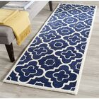 Wilkin Dark Blue / Ivory Moroccan Rug Rug Size: Runner 2'3