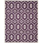 Wilkin Moroccan Hand-Tufted Wool Purple/Ivory Area Rug Rug Size: Rectangle 8' x 10'
