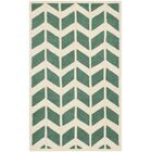 Wilkin Moroccan Hand-Tufted Wool Green/Ivory Area Rug Rug Size: Rectangle 3' x 5'