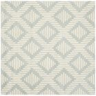 Wilkin Moroccan Hand-Tufted Wool Gray/Ivory Area Rug Rug Size: Square 5'