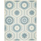 Martins Hand-Tufted Blue/Ivory Area Rug Rug Size: Rectangle 8' x 10'