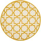 Martins Ivory/Gold Area Rug Rug Size: Round 6'