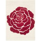 Martins Ivory/Red Area Rug Rug Size: Rectangle 8' x 10'