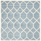 Wilkin Blue / Ivory Area Rug Rug Size: Square 5'