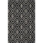 Martins Black / Ivory Area Rug Rug Size: Rectangle 4' x 6'