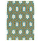 Serpens Handmade Teal Area Rug Rug Size: Rectangle 8' x 10'