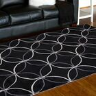 Conroy Black Area Rug Rug Size: Rectangle 8' x 11'