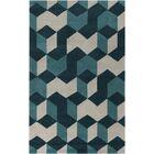 Conroy Teal Blue/Teal Area Rug Rug Size: Rectangle 5' x 8'