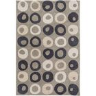 Conroy Hand-Tufted Beige/Black Area Rug Rug Size: Rectangle 9' x 13'