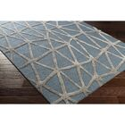 Blandon Hand-Tufted Blue/Gray Area Rug Rug Size: Rectangle 8' x 10'