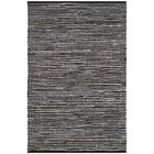 Shatzer Hand-Woven Black Area Rug Rug Size: Rectangle 6' x 9'