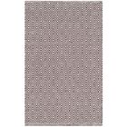 Shevchenko Place Hand-Woven Ivory/Chocolate Area Rug Rug Size: Round 6'