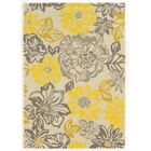 Amezcua Hand-Woven Gray/Yellow Area Rug Rug Size: 5' x 7'
