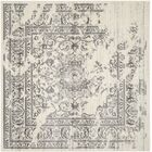 Costa Mesa Ivory/Silver Area Rug Rug Size: Square 9'