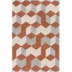 Conroy Hand-Tufted Orange/Yellow Area Rug Rug Size: Rectangle 5' x 8'