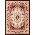 Harbert Red Area Rug Rug Size: 9'3