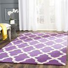 Charlenne Hand-Tufted Purple/Ivory Area Rug Rug Size: Rectangle 8' x 10'