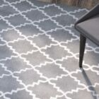 Wilkin Hand-Tufted Dark Gray/Ivory Area Rug Rug Size: Rectangle 6' x 9'