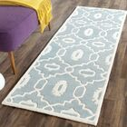 Wilkin Moroccan Hand-Tufted Wool Blue/Ivory Area Rug Rug Size: Runner 2'3