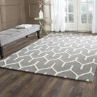 Martins Hand-Tufted Dark Gray/Ivory Area Rug Rug Size: Rectangle 4' x 6'