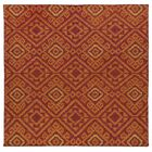 Marble Falls Red Geometric Area Rug Rug Size: Square 8'