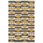 Marble Falls Gold Geometric Area Rug Rug Size: Rectangle 9' x 12'