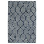Zack Light Blue Geometric Rug Rug Size: Rectangle 8' x 11'