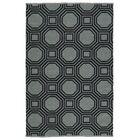 Littleton Gray/Black Indoor/Outdoor Area Rug Rug Size: Rectangle 9' x 12'