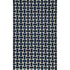 Hagler Hand-Woven Navy Area Rug Rug Size: Rectangle 8' x 10'