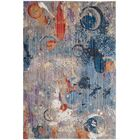 Amulree Gray/Blue Area Rug Rug Size: Square 7'