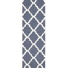 Terina Moroccan Trellis Kilim Charcoal Area Rug Rug Size: Runner 2'6