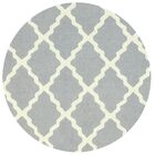 Tadlock Hand-Woven Gray Area Rug Rug Size: Round 6'