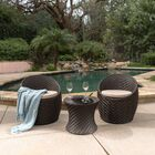 Bentz 3 Piece Conversation Set with Cushions