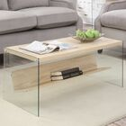 Calorafield Coffee Table With Storage Color: Weathered White