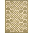 Jefferson Place Beige/Green Outdoor Rug Rug Size: Rectangle 6'7